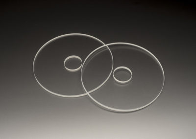 Machined Fused Silica Discs