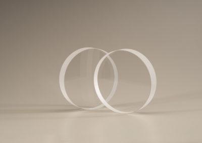 Clear Fused Quartz Discs