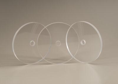 Machined Fused Quartz Discs