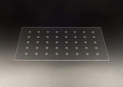 Machined Clear Fused Quartz Plates